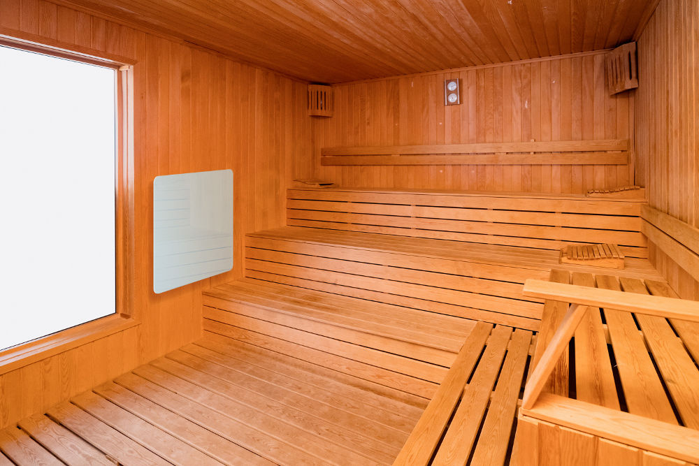 Use of Celsius infrared panels for heat cabins (sauna without steam)